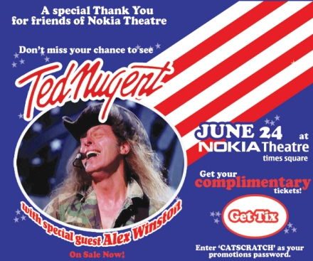 Ted Nugent at Nokia Theatre