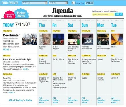 NYMag's Agenda
