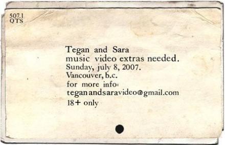 Tegan & Sara Casting Call