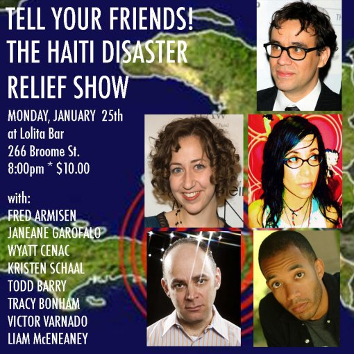 Tell Your Friends! Haiti Comedy Benefit