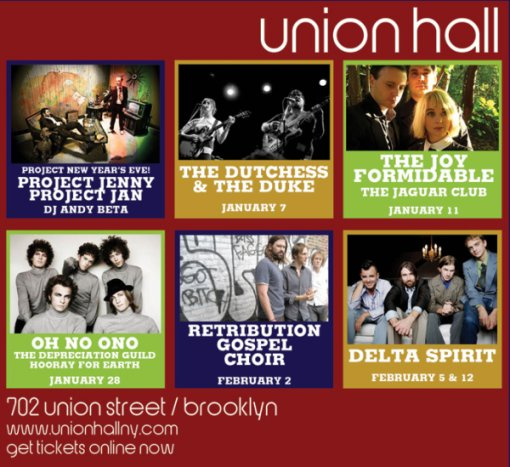 Union Hall Upcoming Shows